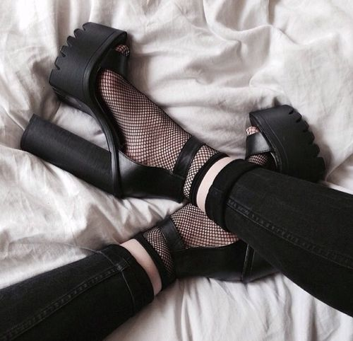 5fd161c2cc9f5ee4f21d5b32cc4d7e3e--mesh-socks-goth-shoes